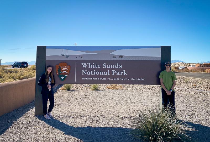 White Sands National Park sign