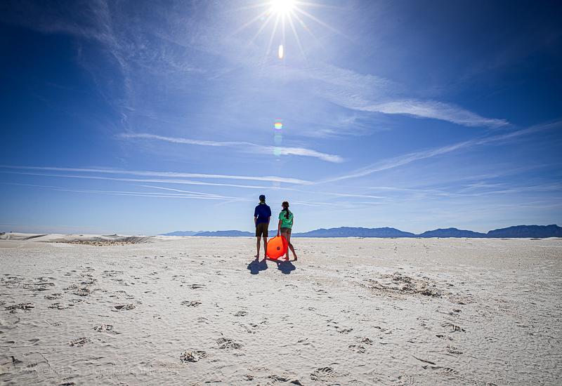 White Sands Natioal Park sledding